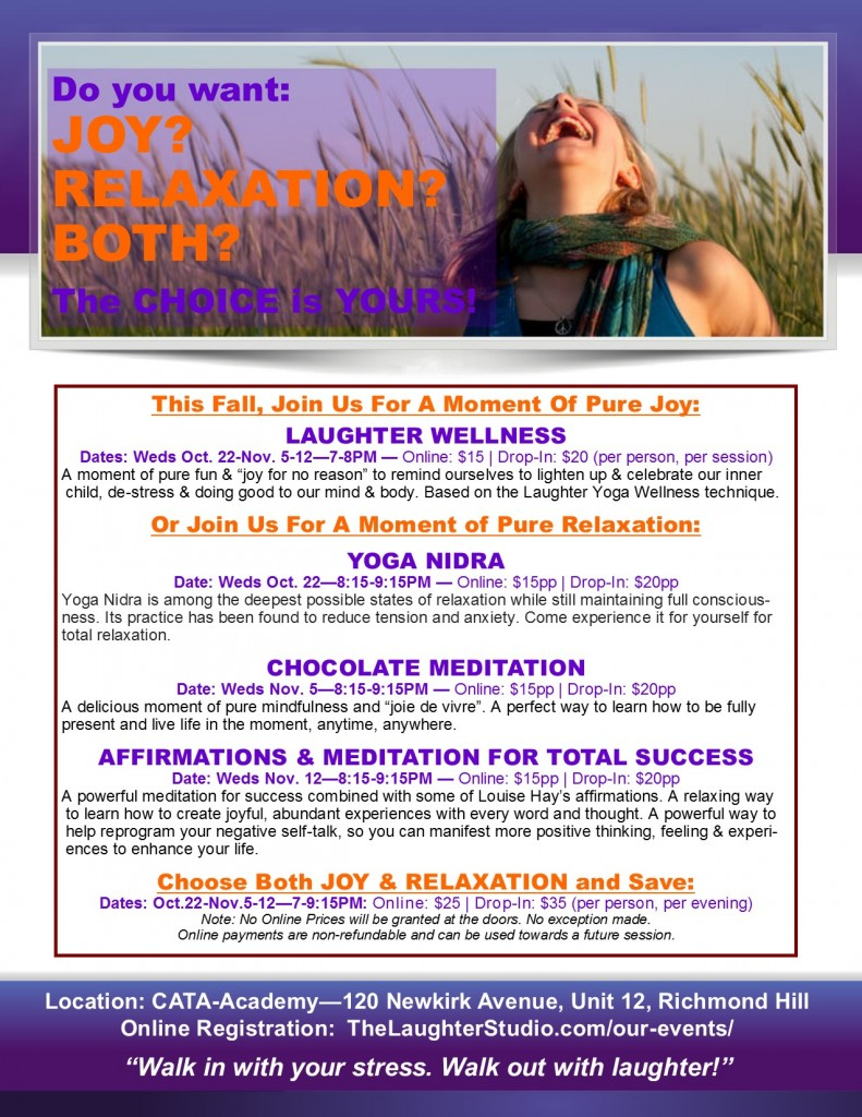 Laughter Wellness Stress Busters Fall 2014 791x1024 Our Events