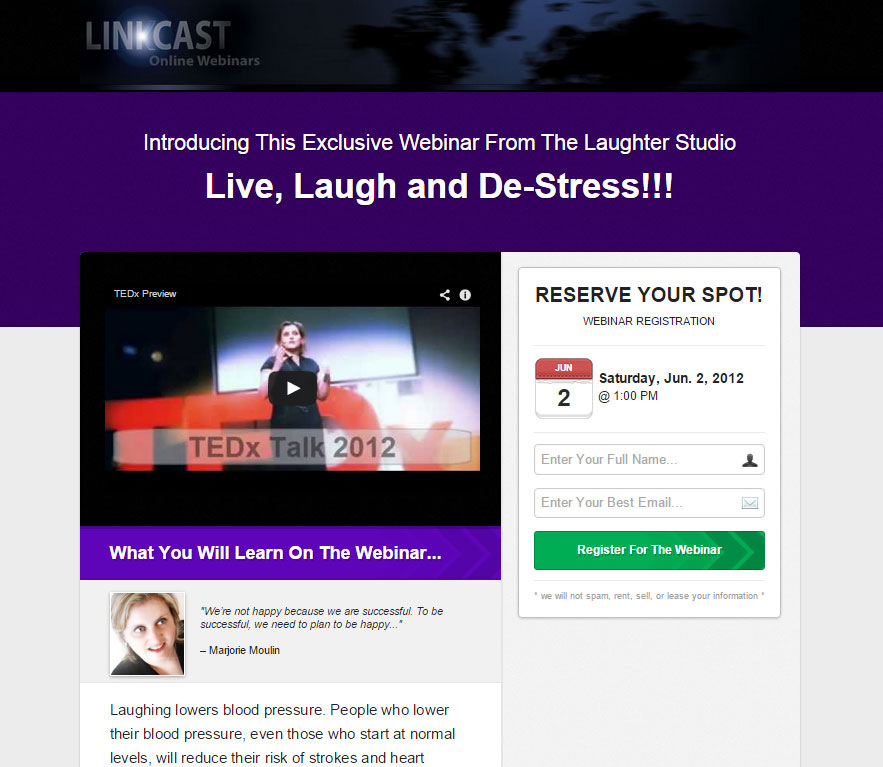 webinar laughter Our Events